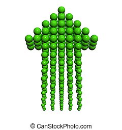 Arrow icon green