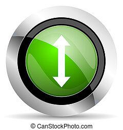 arrow icon, green button