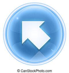 Arrow icon ice, isolated on white background.