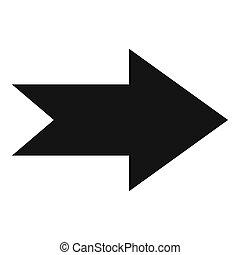 Arrow icon in black simple