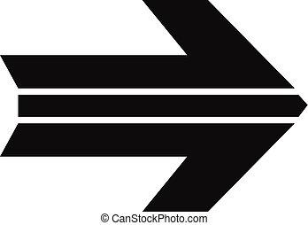 Arrow icon in black vector simple - Arrow icon in black....