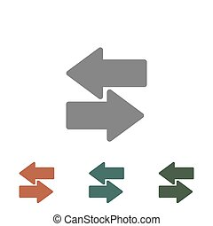 arrow icon isolated on white background