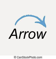 Arrow icon logo. Vector emblem