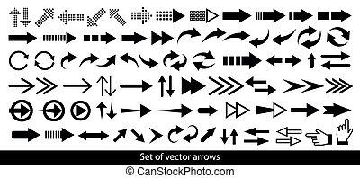 Arrow icon. Mega set of vector arrows.