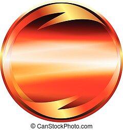arrow icon on a circular button vector element
