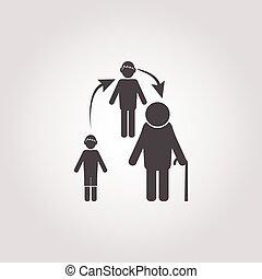 arrow icon on white background