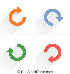 Arrow icon refresh, rotation, reset, repeat sign