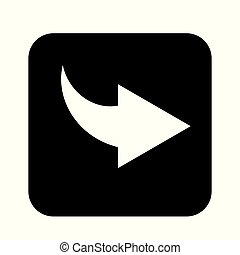 Arrow Icon Vector flat design style - Vector