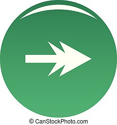 Arrow icon vector green