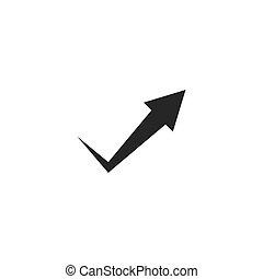 Arrow icon vector illustration flat design