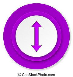 arrow icon, violet button