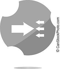 arrow icon web button isolated on white