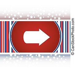 arrow icon web button isolated on white vector