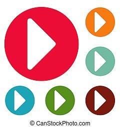 Arrow icons circle set