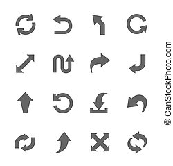 Arrow Icons - Simple Icon set related to Interface Arrows