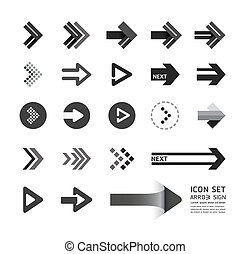 arrow icons design set / can be used for infographics / graphic or website layout vector