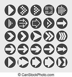 Arrow icons - Arrow play interface icon set