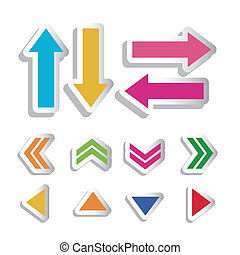 Arrow Icons - Illustration of arrow icons, in differents...