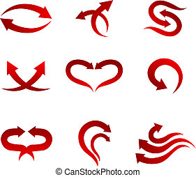 Arrow icons - Set of arrow icons isolated on white for web ...