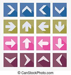 Arrow icons vector illustration
