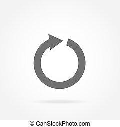 arrow in a circle icon