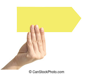 arrow in a hand
