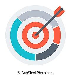 Arrow in archery target