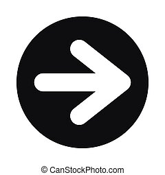 Arrow in circle icon, simple style