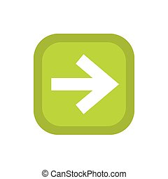 Arrow in square icon, flat style