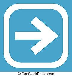 Arrow in square icon white