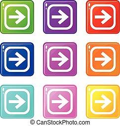 Arrow in square set 9