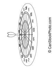 Arrow in target. Vector
