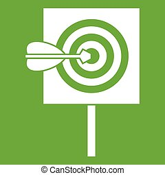 Arrow in the center of target icon green