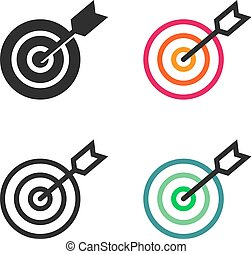 Arrow in the target's center