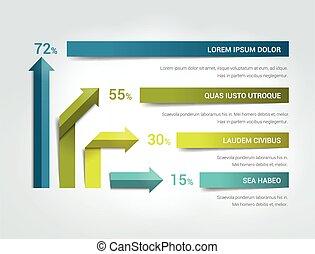 Arrow infographics flowchart. Vector.