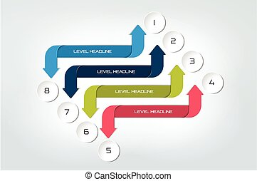 Arrow infographics scheme, diagram, chart, flowchart. Vector.