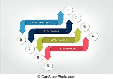 Arrow infographics scheme, diagram, chart, flowchart....