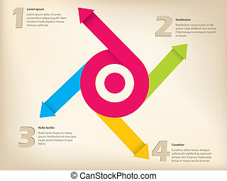 Arrow inforgraphic design with numbers and text