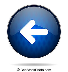 arrow internet blue icon