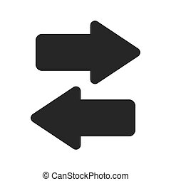 Arrow isolated flat icon, vector illustration.