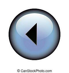 Arrow Left Button - A circular arrow left web button.