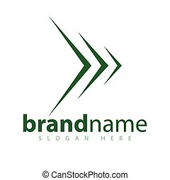 Arrow Line abstract logo design stock template