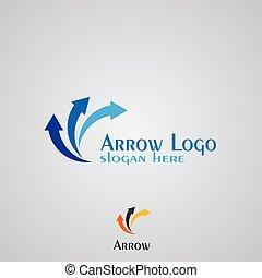 Arrow logo design.