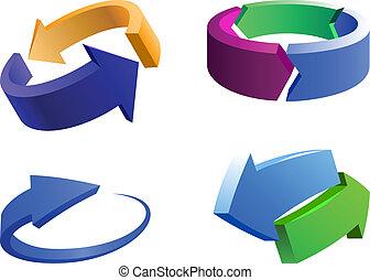 arrow logo elements