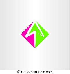 arrow logo sign vector element symbol