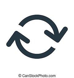 arrow loop 2 - arrows loop icon