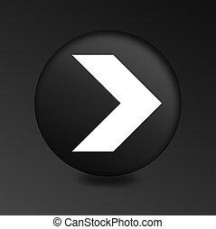 arrow modern black glass circle icon