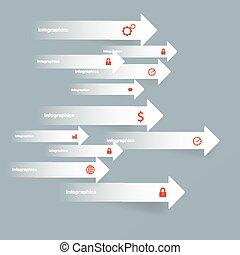 Arrow modern business Infographics
