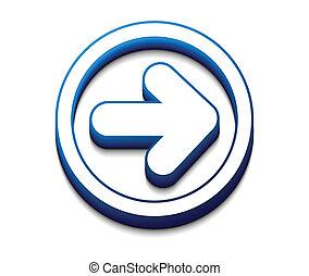 arrow moving forward Vector icon design.