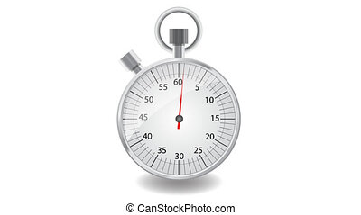 stopwatch - Arrow moving on the dial stopwatch